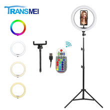 10 inch Selfie Ring Light Three colors with Tripod TM-10R20A