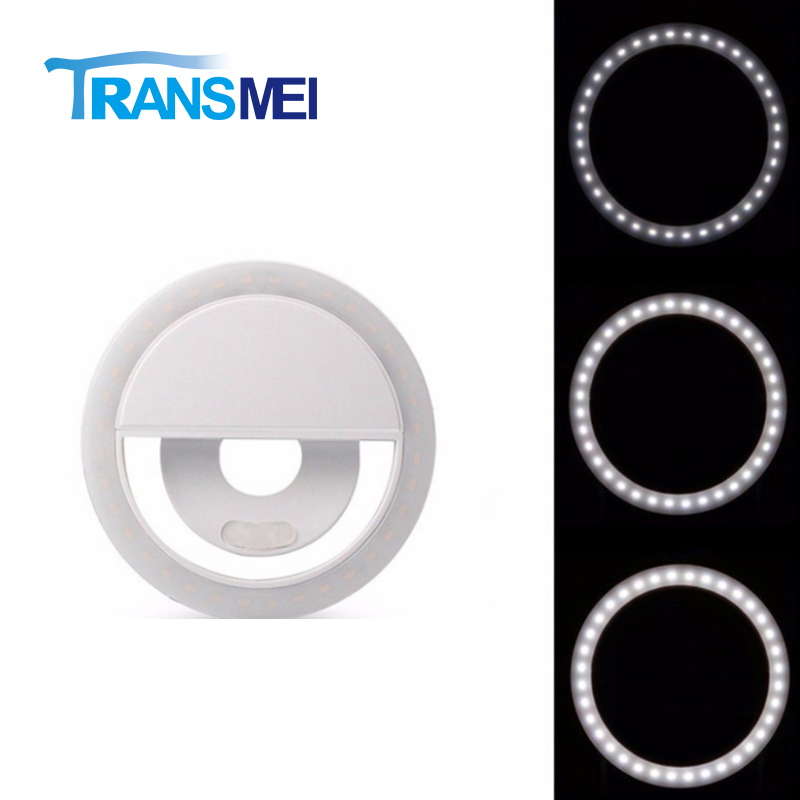 Selfie Phone Clip-on 36 LEDs Ring Light Three color/Android Smart Phone Photography, Camera Video, Girl Makes up