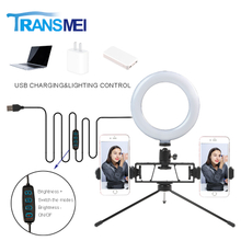 Selfie Ring Light With double stand clamp and Metal bracket TM-06MBS